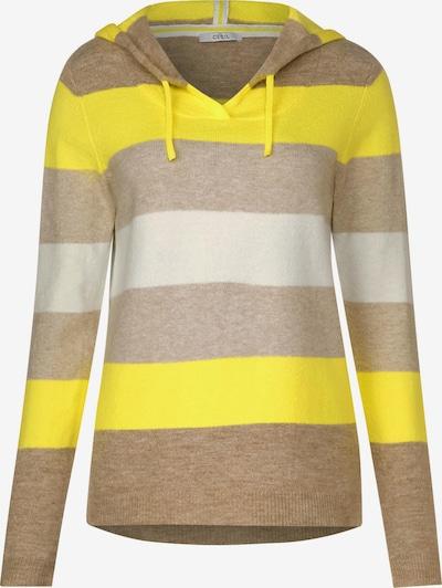 CECIL Pullover in beige / hellbraun / gelb, Produktansicht