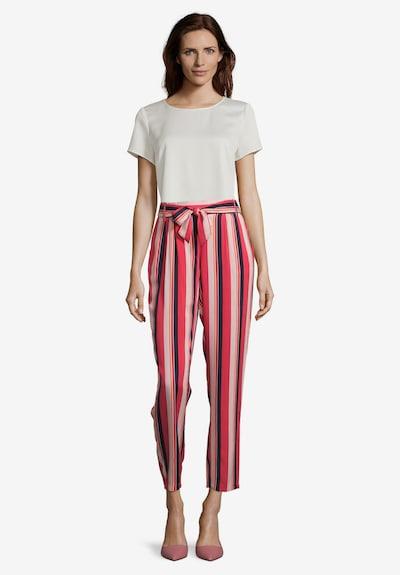 Betty Barclay Schlupfhose mit Bundfalten in dunkelblau / rosé / rot, Modelansicht