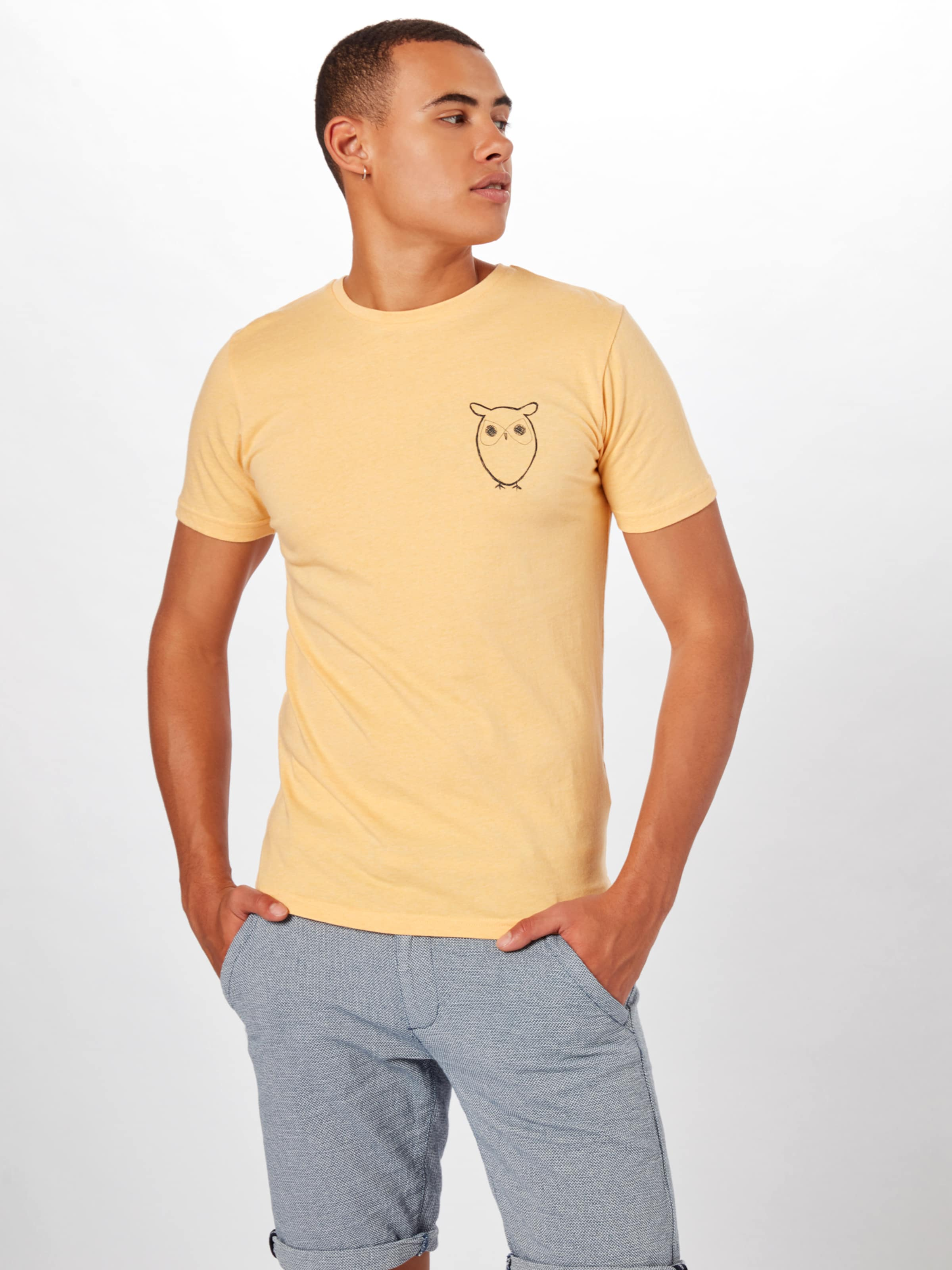 Knowledgecotton Moutarde T shirt En Apparel 0mnONw8yv
