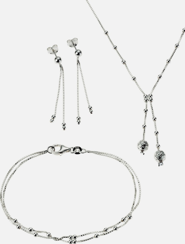 FIRETTI Schmuckset: Halskette, Armband und Ohrstecker (Set 4tlg.)