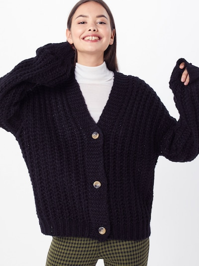 Noisy may Gebreid vest 'STEVE' in de kleur Zwart, Modelweergave