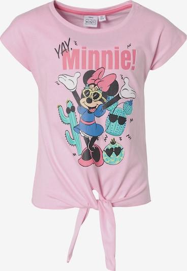 DISNEY T-Shirt 'Minnie Mouse' in blau / rosa / schwarz / weiß, Produktansicht