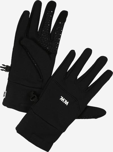 WOOD WOOD Fingerhandschuhe 'Holger Gloves' in schwarz / weiß, Produktansicht