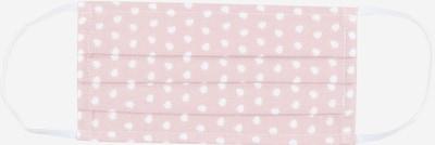 Mey Stoffen mondkapje in de kleur Rosa / Wit, Productweergave