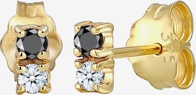 ELLI PREMIUM Ohrringe in gold / schwarz / transparent, Produktansicht