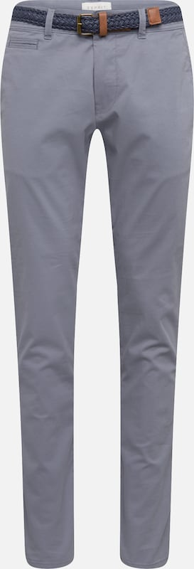 Pantalon Fumé Chino Esprit En Bleu R354ALqcj