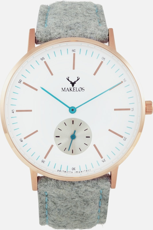 MAKELØS Armbanduhr 'RØD GRA' mit Filzband