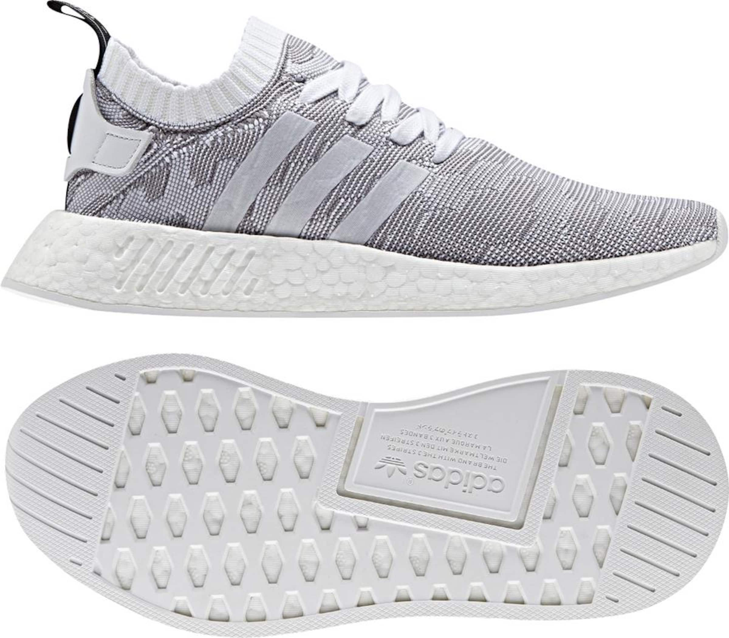'nmd R2 In HellgrauWeiß Sneaker Primeknit Originals Adidas W' QrCtshdBxo