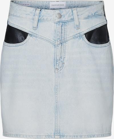 Calvin Klein Jeans Rock in blue denim / schwarz, Produktansicht