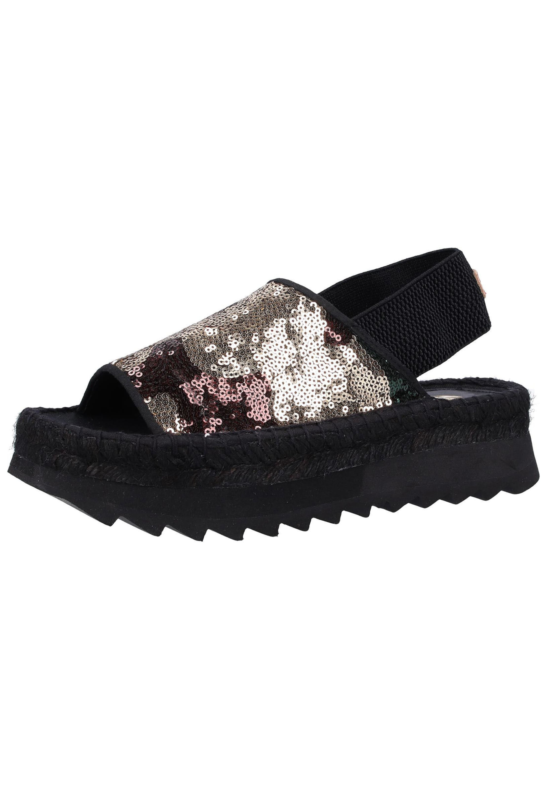 REPLAY Sandalen in schwarz   silber