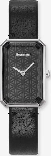 Engelsrufer Uhr in schwarz: Frontalansicht