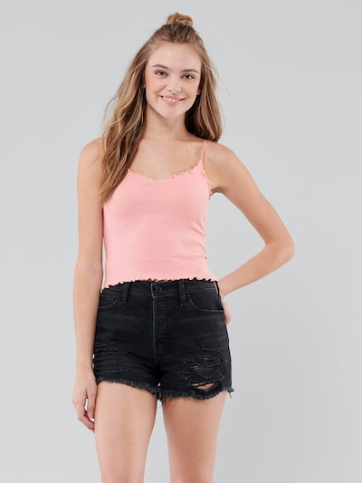 HOLLISTER Top in rosé: Frontalansicht