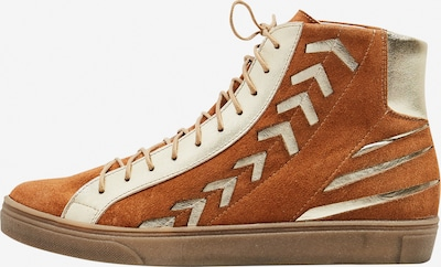 Usha Sneaker in braun / gold, Produktansicht