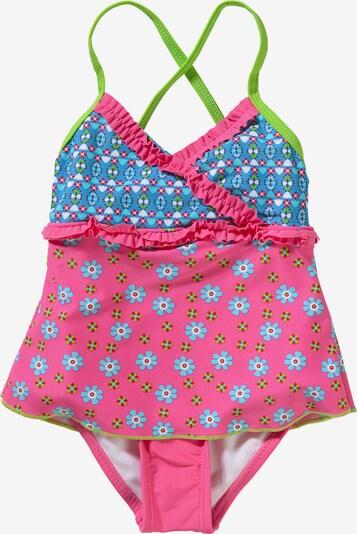 PLAYSHOES Badeanzug mit UV-Schutz in mischfarben / pink, Produktansicht