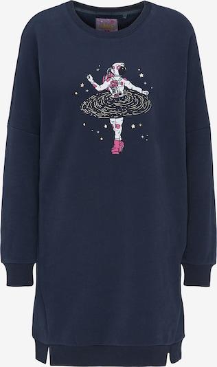 MYMO Sweatshirtkleid in marine / gold / pink / weiß, Produktansicht