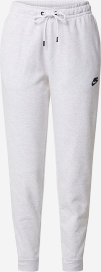 Nike Sportswear Damen - Hosen 'W NSW ESSNTL PANT REG FLC' in graumeliert / weiß, Produktansicht