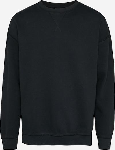 Urban Classics Oversize Pullover 'Open Edge Crew' in schwarz, Produktansicht