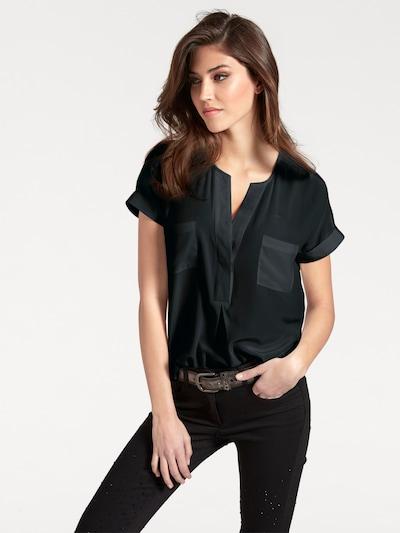 heine Seidenbluse in schwarz, Modelansicht