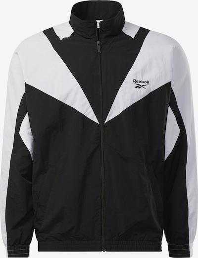 Reebok Classic Sportjas in de kleur Zwart / Wit, Productweergave