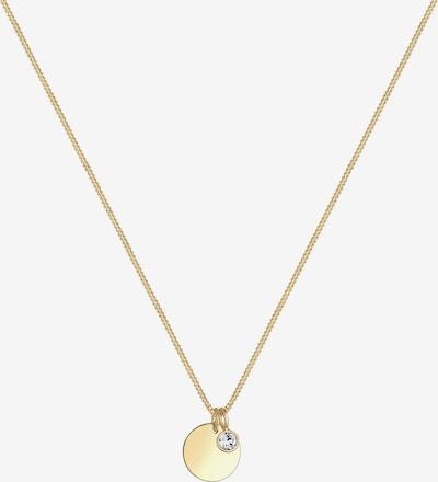 ELLI Halskette 'Geburtsstein' in gold / weiß, Produktansicht