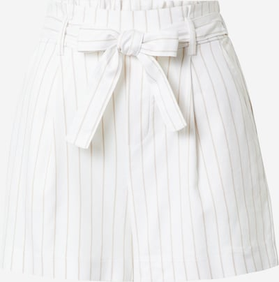 Tally Weijl Hlače z naborki 'AQEM' | svetlo bež / bela barva, Prikaz izdelka