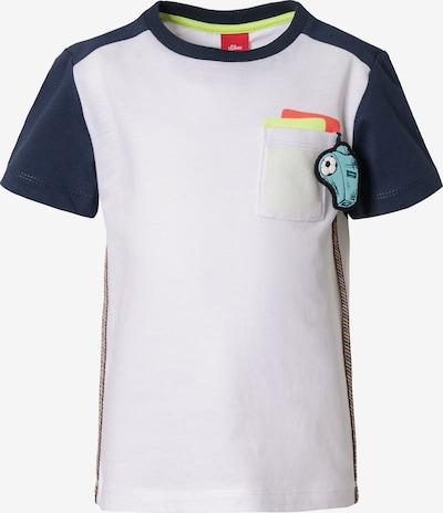 s.Oliver T-Shirt in navy / hellblau / limone / lachs, Produktansicht