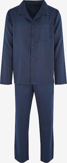 SEIDENSTICKER Pyjama long ' Schlafanzug nachtblau lang ' en bleu marine, Vue avec produit