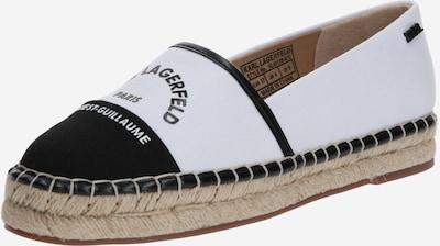 Karl Lagerfeld Espadrillas 'KAMINI' melns / balts, Preces skats