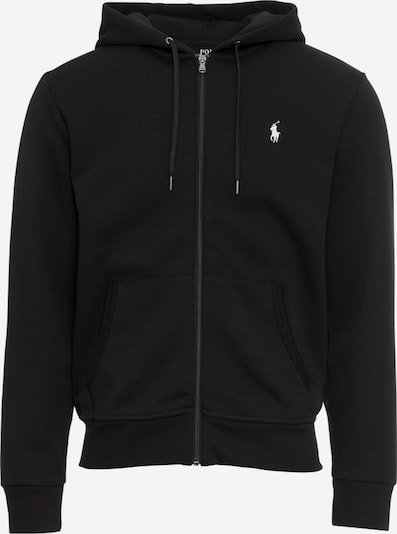 POLO RALPH LAUREN Sweatjacke 'LSFZHOODM1-LONG SLEEVE-KNIT' in schwarz, Produktansicht