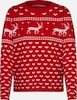 ONLY Pullover 'HEARTMAS' in rot