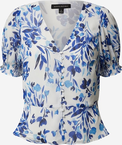 Banana Republic Bluse 'COVERED BUTTON FRONT TOP PRINT CRINKLE' in blau / mischfarben, Produktansicht