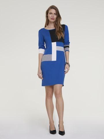 heine Gebreide jurk in Blauw