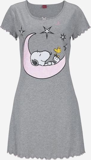 PEANUTS Nachthemd in Minilänge in grau / weiß, Produktansicht