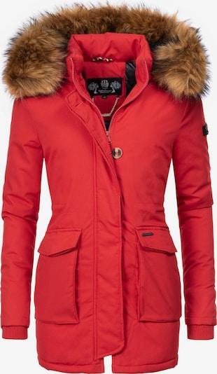 Parka invernale 'Schneeengel' NAVAHOO di colore marrone / rosso neon, Visualizzazione prodotti