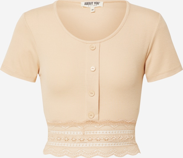 ABOUT YOU Shirt 'Carin' in Beige DOlwAGYp