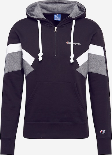 Champion Authentic Athletic Apparel Sweater majica u morsko plava / siva melange / bijela, Pregled proizvoda