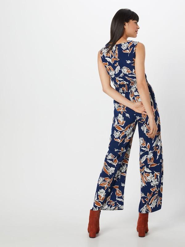 Couleurs 'ruched Jumpsuit' En Leg London Bleu Combinaison Wide De Waist Mela MarineMélange 4R5LAj3q