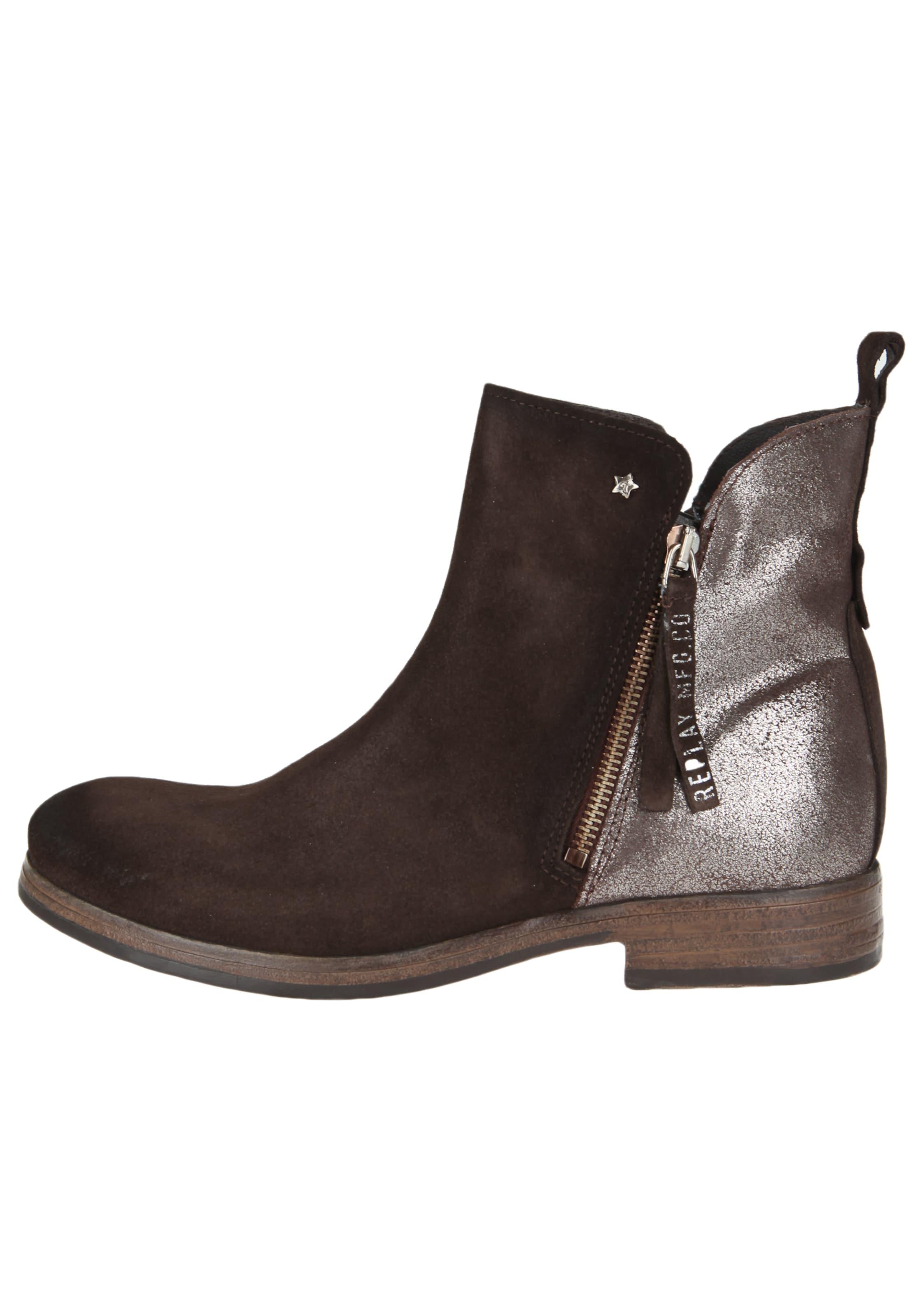 REPLAY Lederstiefelette VALERIE Verschleißfeste billige Schuhe