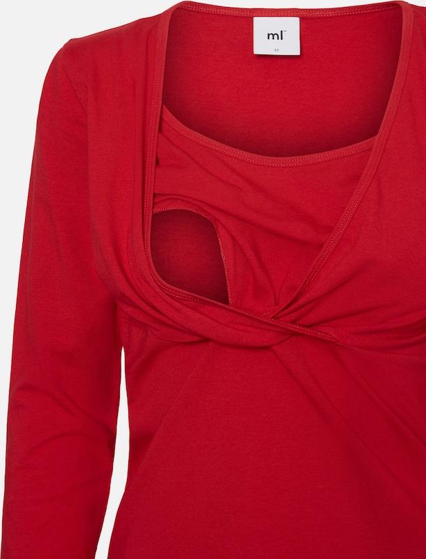 MAMALICIOUS Still-Bluse mit langen Ärmeln Jersey-