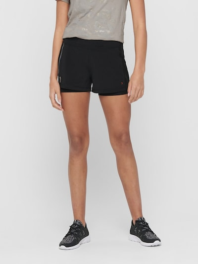 ONLY PLAY Jogging Shorts in schwarz: Frontalansicht