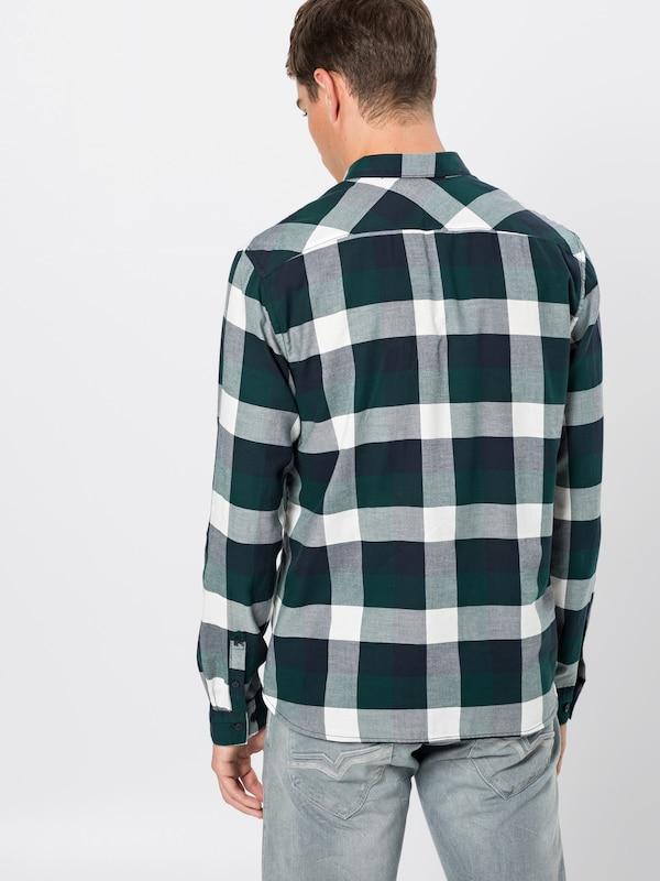 Chemise FoncéBlanc Denim En 1 Tailor 'check Shirt 1' Tom Vert VUzMpSGq