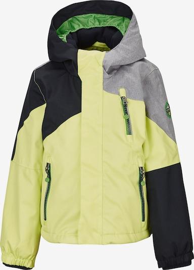 KILLTEC Skijacke 'Yariny' in gelb / grau / schwarz, Produktansicht