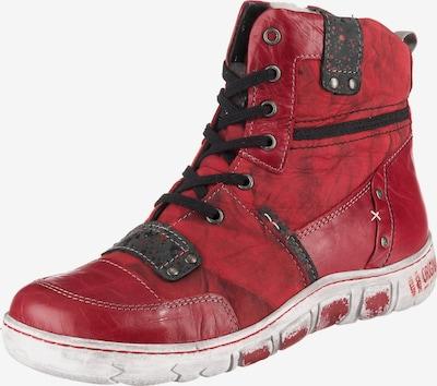 Corley originals Schnürstiefelette in rot, Produktansicht