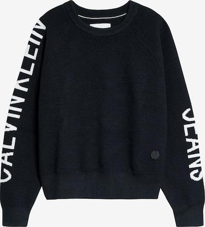 Calvin Klein Jeans Trui in de kleur Zwart / Wit: Vooraanzicht