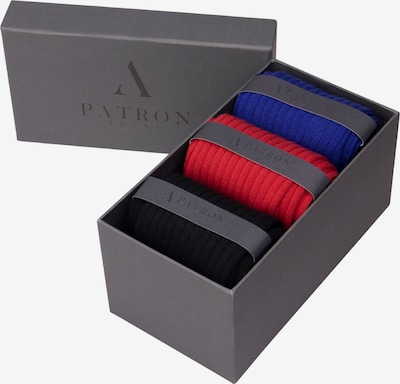 PATRON SOCKS Socken 'Volcano Gift Box' in marine / orange / schwarz, Produktansicht