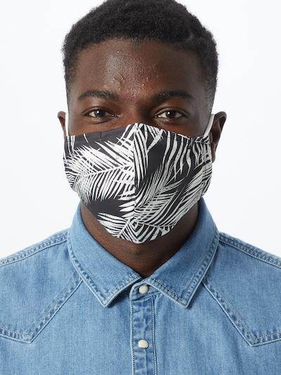Iriedaily Stoffmaske 'FUNKY' in schwarz / weiß: Frontalansicht