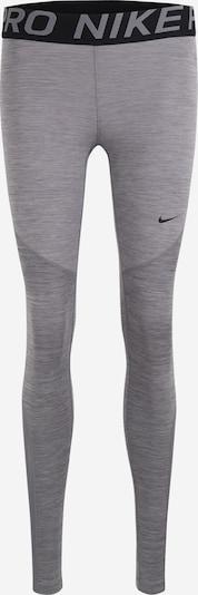 NIKE Športne hlače 'Nike Pro' | pegasto siva / črna barva, Prikaz izdelka