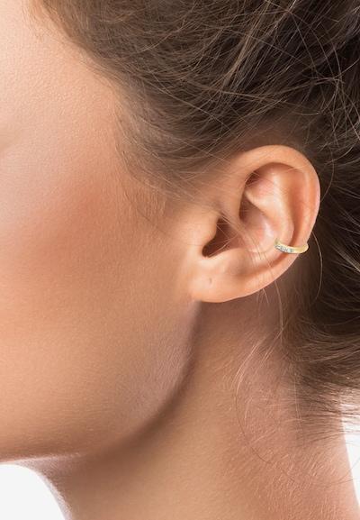 ELLI Boucles d'oreilles 'Basic Glitzer' en or: Vue de face