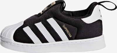 ADIDAS ORIGINALS Baskets 'Superstar 360' en jaune d'or / noir / blanc: Vue de face