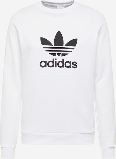 ADIDAS ORIGINALS Sweatshirt 'Trefoil Crew' in schwarz / weiß, Produktansicht